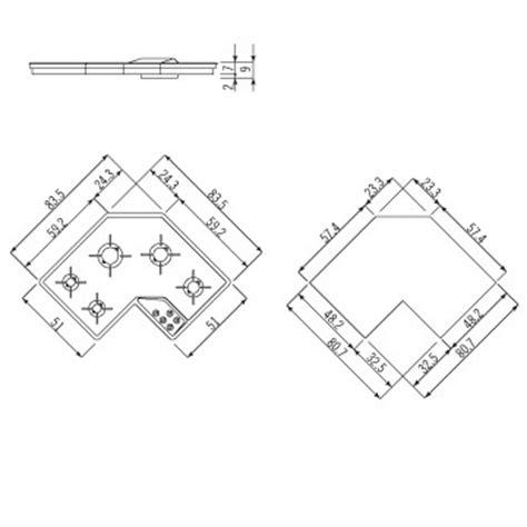 piano cottura angolare ariston alpes f 583 5g piano cottura ad angolo da incasso