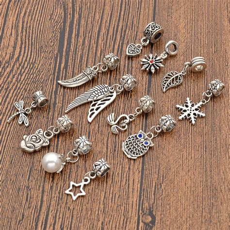 hairs pins with bead to decorate hairs 12 pcs alloy dreadlock hair beads tibetan decoration hair