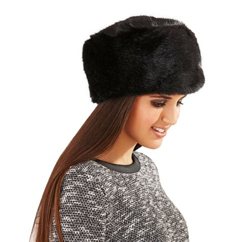 womens luxury faux fur russian cossack style hat