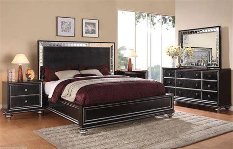 hollywood regency style mirrored furniture bedroom wynwood glam black mirrored king size mansion bed bedroom