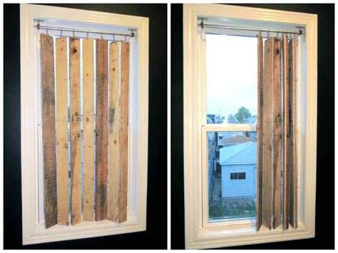 diy pallet wood vertical blinds  pallets
