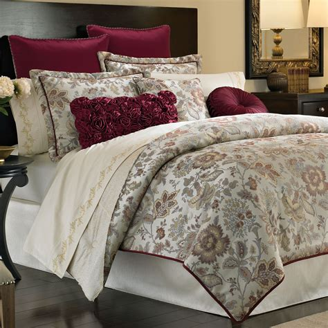 romantic comforter sets king croscill romance 4pc cal king comforter set with shams and