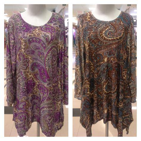 Ch4367 Jumbo Tunik Tarida Batik blouse batik leopard trim blouse
