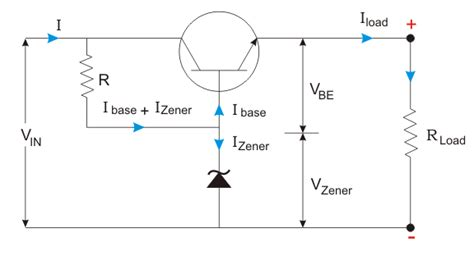 voltage regulator using zener diode and bjt voltage regulator electrical4u