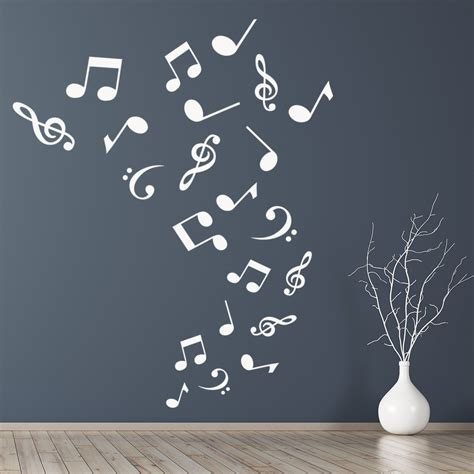 musical notes wall sticker  wall decal kids bedroom