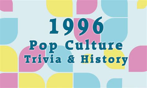 2012 fun facts history and trivia pop culture madness 1996 history trivia and fun facts pop culture madness
