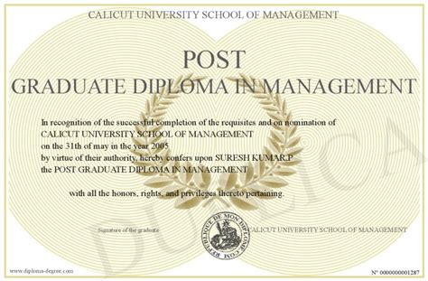 Post Graduate Diploma Vs Mba by Post Graduate Diploma In Management