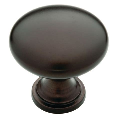 Liberty Door Knobs by Liberty 1 1 4 In Rubbed Bronze Hollow Cabinet