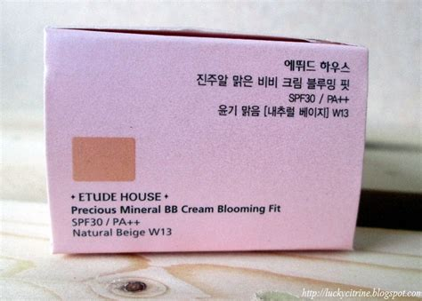 Jual Etude House Precious Mineral Bb Moist Spf 50 Pa Pom lucky citrine etude house precious mineral bb blooming fit spf 30 pa in beige w13