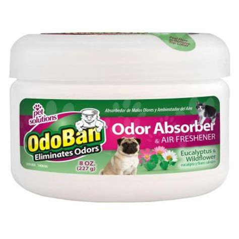 odoban 8 oz eucalyptus and wildflower solid pet odor