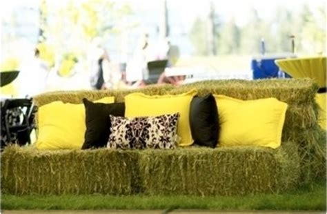 hay bale sofa hay bale sofas how to weddings style and decor