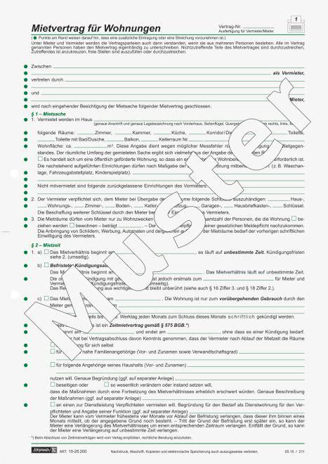 standard mietvertrag wohnung kostenlos mietvertrag f 252 r wohnungen 1025200 brunnen