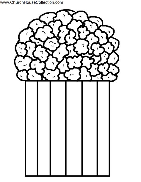 free bucket of popcorn coloring pages