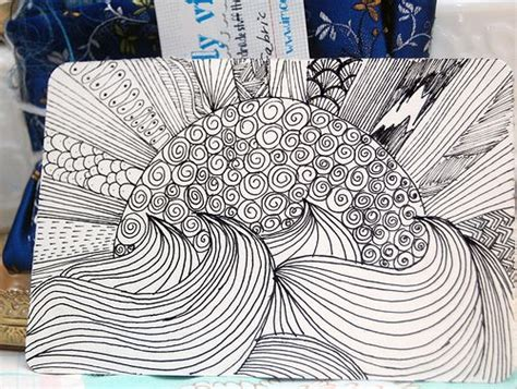 pattern drawing for beginners zentangle patterns picmia