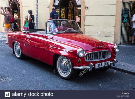 skoda felicia convertible on a prague