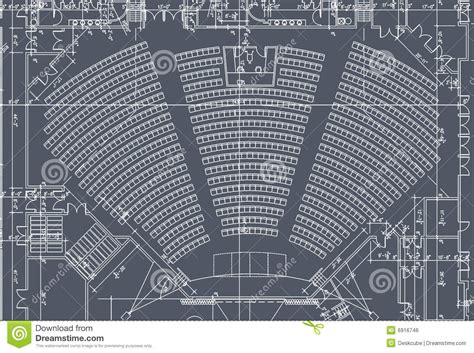 Architecture Floor Plan by Auditorium Seats Plan Royalty Free Stock Image Image