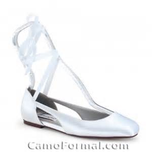 Flat Shoes Square Ribbon White Sh003 3 camouflage shoes and camouflage prom wedding
