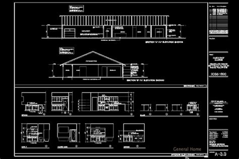Ranch Home Floor Plan by Autocad Drafting Pahrump Home General Home
