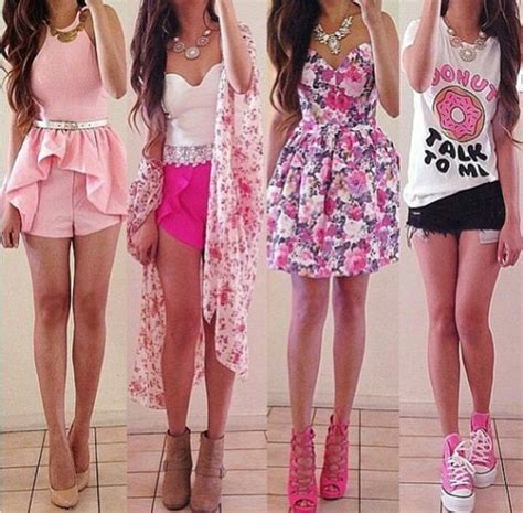 cute, donut, fashion, girly, outfit, outfits, pink, spring