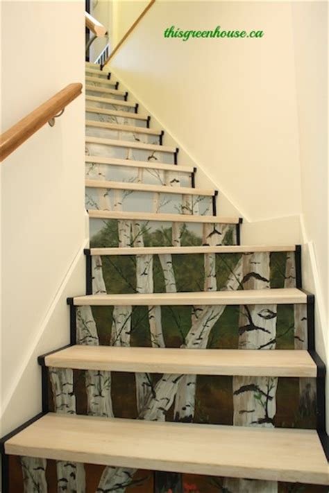 Stairs With Drawers In The Risers by Painted Basement Steps With Board And Batten Painted