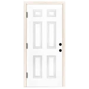 Outswing Front Door Steves Sons 36 In X 80 In Premium 6 Panel Primed White