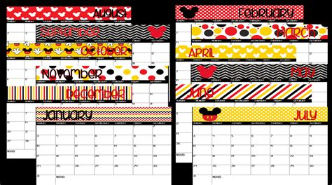 printable calendar 2018 disney 2017 2018 printable mickey mouse disney themed school