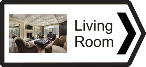 Sign For Living Room In Asl Classic Range Directional Signs Recogneyes Care Home And