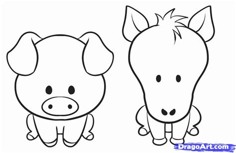 how to draw animals best photos of farm animal drawings for easy to