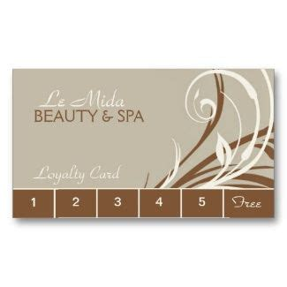 Spa Loyalty Card Template by Customizable Salon Loyalty Punch Cards By