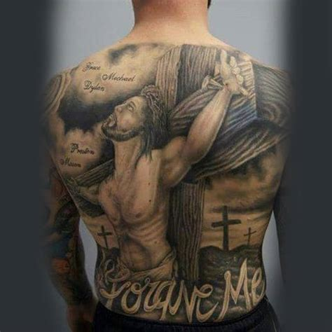 full back cross tattoos 100 jesus tattoos for cool savior ink design ideas