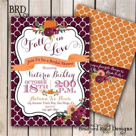 free fall themed bridal shower invitations fall bridal shower invitation autumn autumn wedding shower pumpkin wedding shower fall