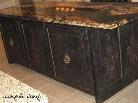 lynda bergman decorative artisan painting black an photos black distressed kitchen cabinets