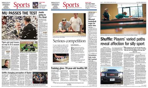 columbia missourian sports section recognized by the