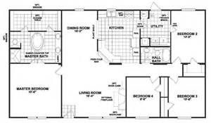 5 Bedroom Double Wide Floor Plans by Doublewide Mobile Homes From Clh Commercial