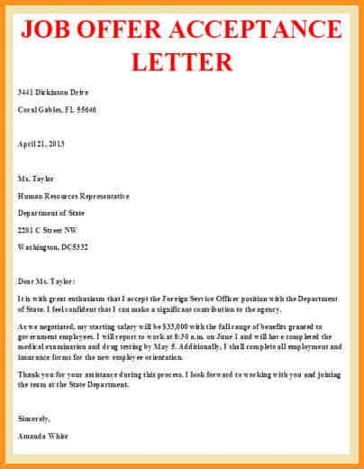offer acceptance letter with notice period 7 acceptance letter cook resume