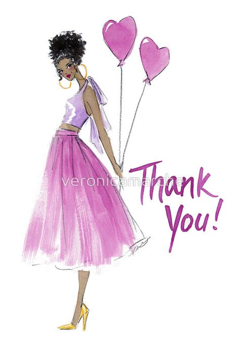 fashion illustration greeting cards this s for you quot thank you card greeting card by miller jamison my work
