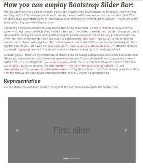 bootstrap slider template jquery slider
