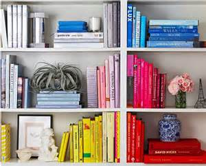Colored Bookshelves Beautifully Organized Color Coded La Dolce Vita