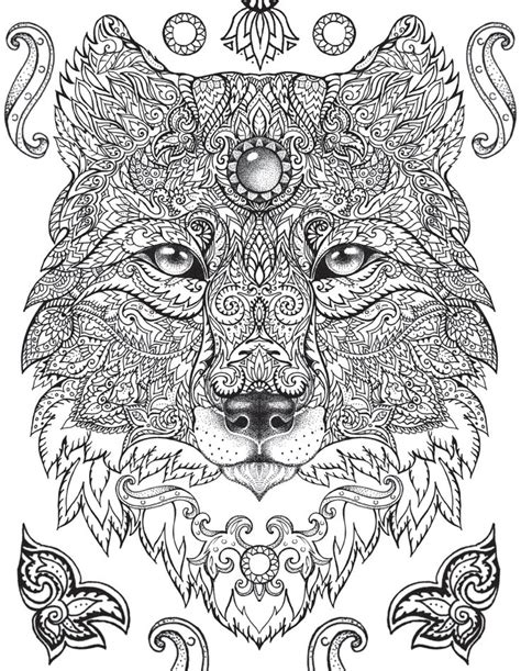mandala coloring pages for adults animals best 25 mandala wolf ideas on animal mandala