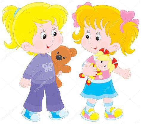 imagenes de niños jugando y compartiendo ni 241 as jugando vector de stock 35890289 depositphotos