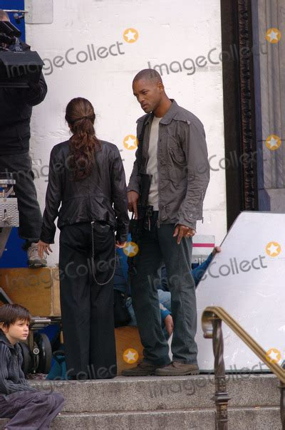 Will Smith And Braga On Set Of I Am Legend October 15 2006 by Pictures From Will Smith And Braga Filming I Am