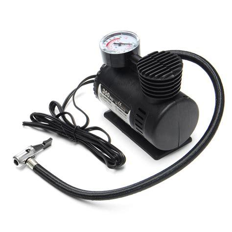 portable mini air compressor vehicle electric tire infaltor 12 volt car 12v 300 psi