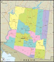 arizona counties and road map of arizona and arizona