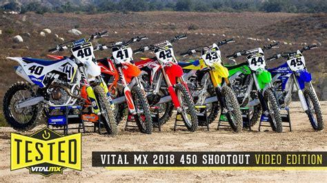 motocross 250f shootout 2018 vital mx 450 shootout