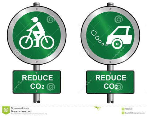 reduce size vector pdf reduce co2 stock vector illustration of ecological
