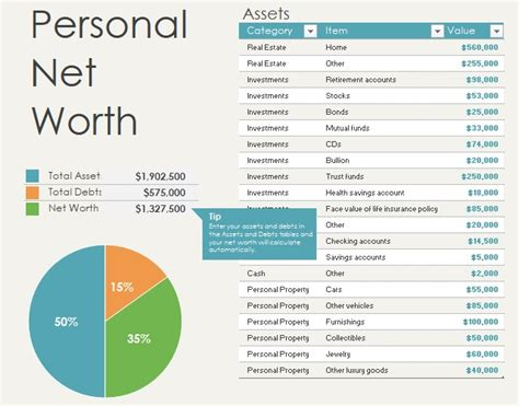 excel net worth template archives page of excel templates excel