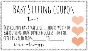 babysitting gift certificate template free downloadable babysitting coupon might start