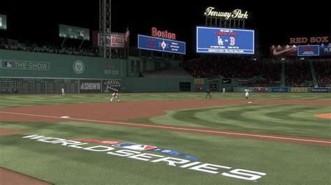 world series  mlb  show    park  sims give red sox edge  dodgers