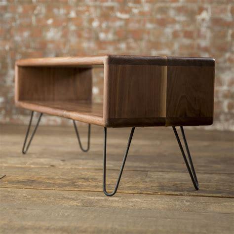 mid century modern tv stand walnut midcentury modern hairpin leg tv stand by biggs