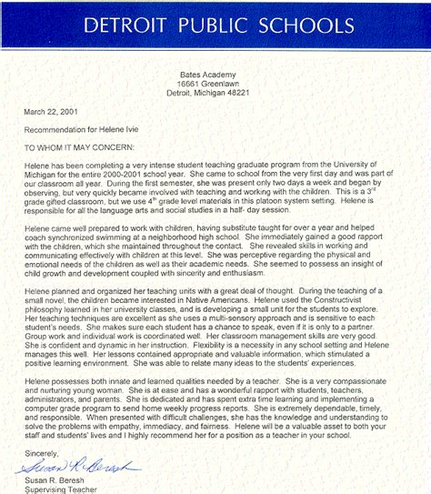 Letters Of Recommendation From Teachers For College Letter Of Recommendation Letter Of Recommendation